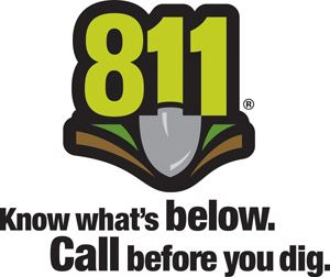 811: Know what's below. Call before you dig.