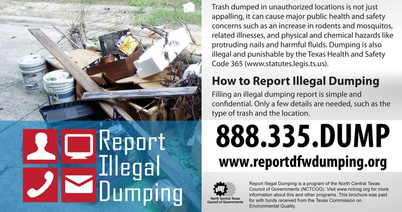 Report Illegal Dumping Brochure