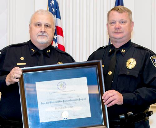 Re-Recognized by Texas Police Chiefs Association Chief Tommy Williams and Captain Darrell Hull_WEB