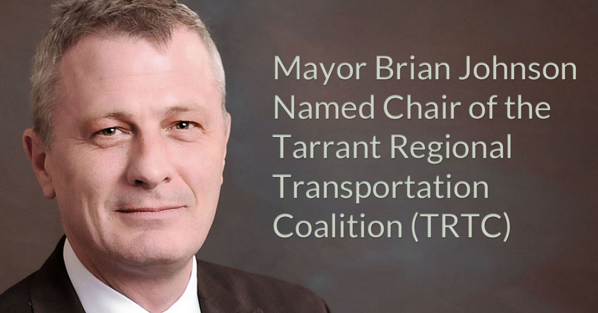 Mayor Brian Johnson Named Chair of TRTC
