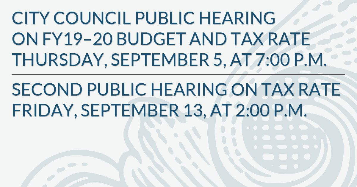 Public Hearing on Budget and Tax Rate