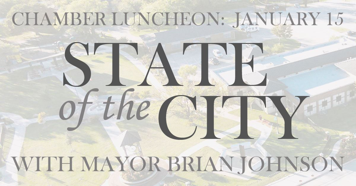 KACC Luncheon: State of the City with Mayor Brian Johnson is Wednesday, January 15 at 11:30 a.m. at