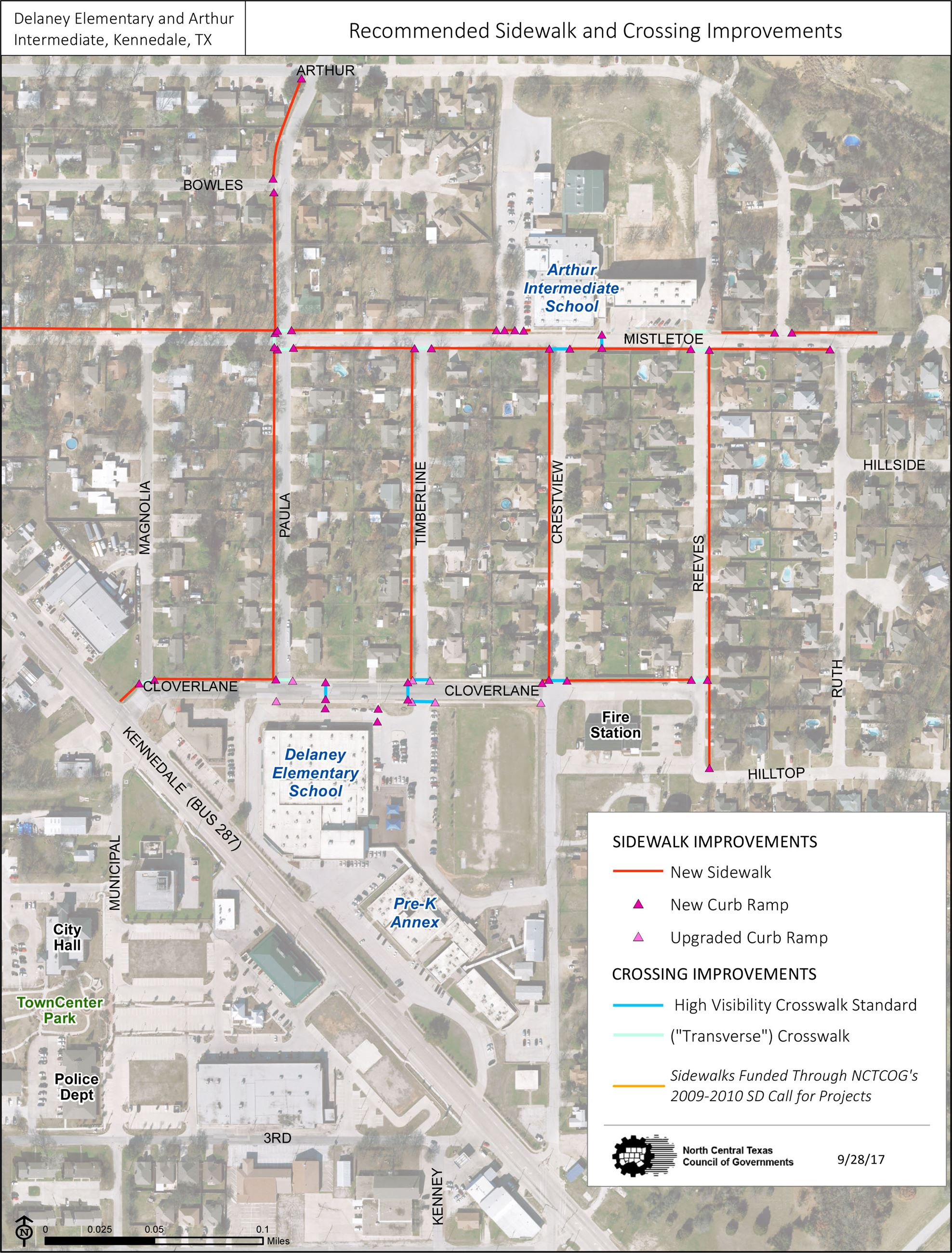 SRTS Recommended Sidewalk and Crossing Improvements