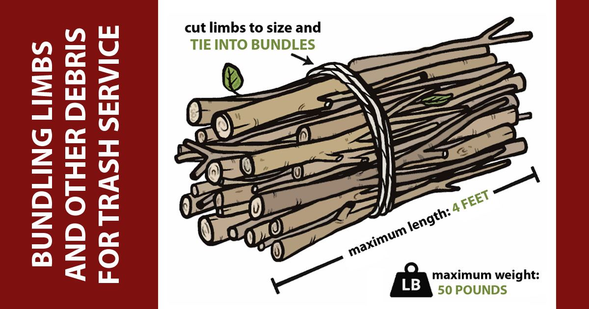 Residential Yard Waste Bundles Diagram