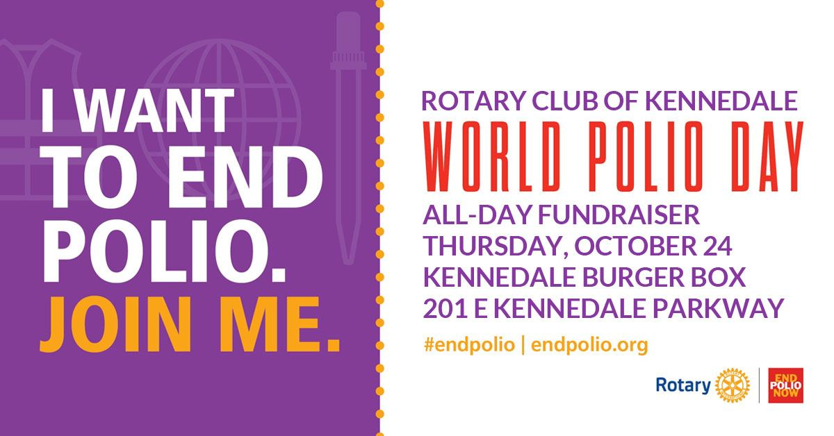 Rotary Club Polio Fundraiser Thursday, October 24 at Burger Box in Kennedale